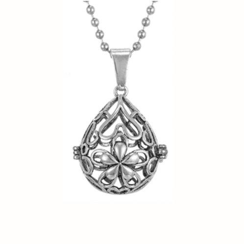 Geurketting - Hearts - rond - zilverkleur - 5 kleurenpads