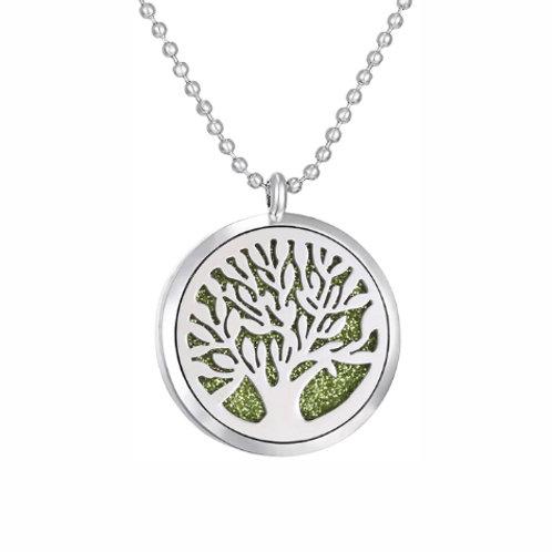 Geurketting - Tree of Life - 4 - zilverkleur - 5 kleurenpads
