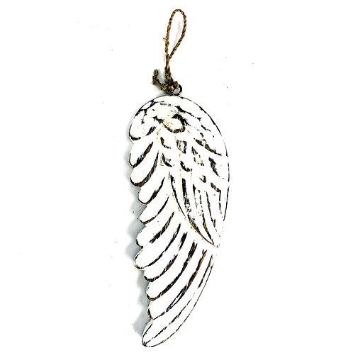 Engelen vleugel 18 cm hout – wit - krijtbord - muurdecoratie