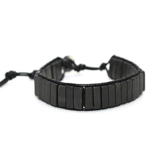 Bohemian armband Zwarte Onyx