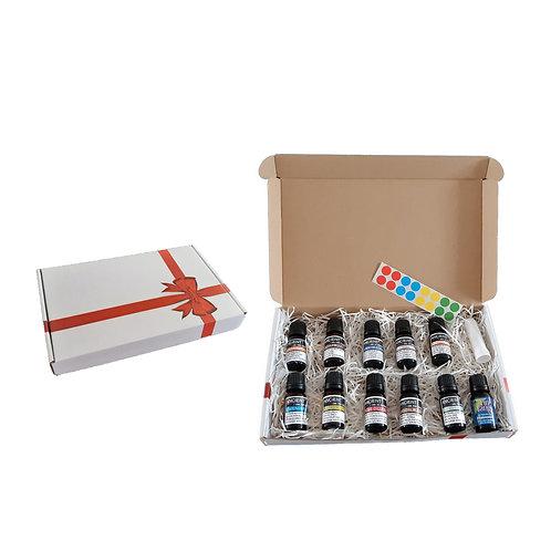 Meditatie pakket - 11 essential oils - neusinhaler - stickervel
