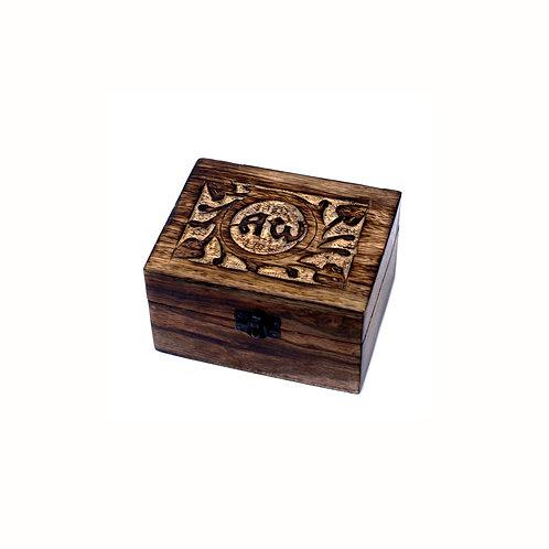 Box 12 vakken Essential Oils Wood AW