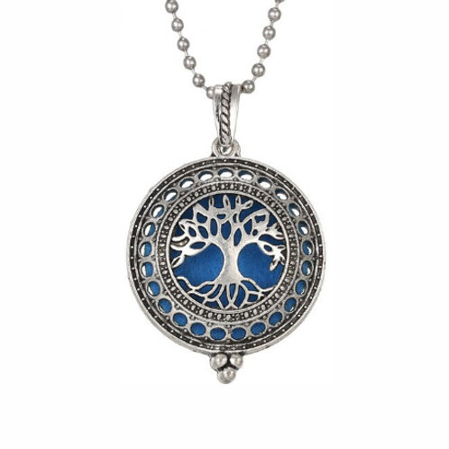 Geurketting - Tree of Life - 2 - zilverkleur - 5 kleurenpads