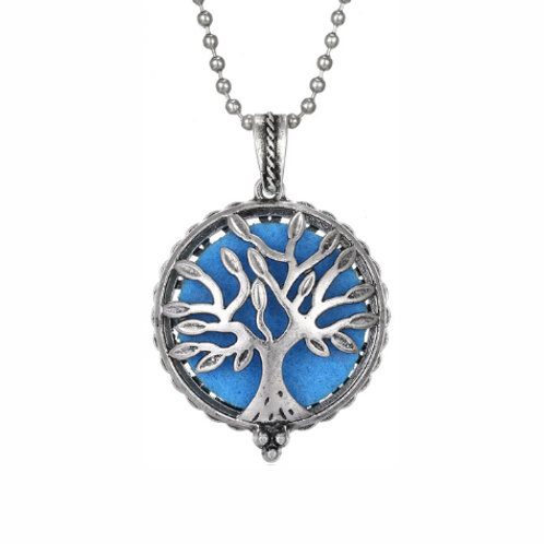 Geurketting - Tree of Life - 3 - zilverkleur - 5 kleurenpads