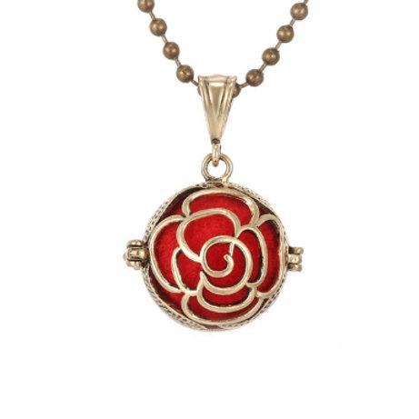 Geurketting - Rose - goudkleur - 5 kleurenpads