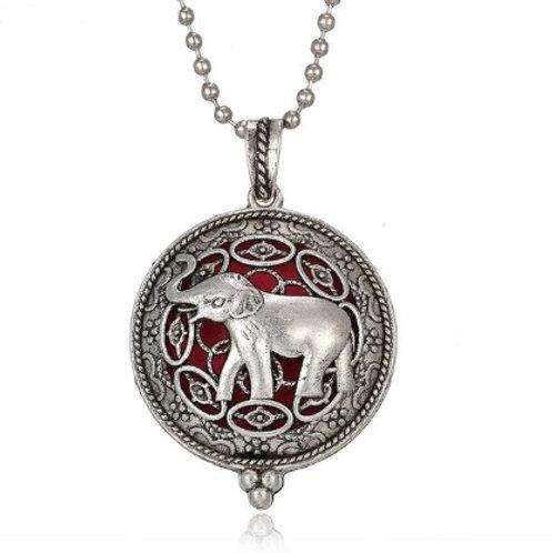Geurketting - Elephant - zilverkleur - 5 kleurenpads