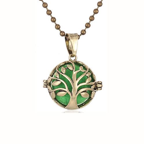 Geurketting - Tree of Life - rond - goudkleur - small - 5 kleurenpads