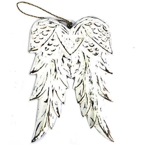 Engelen vleugels 31 cm hout – wit - krijtbord - muurdecoratie