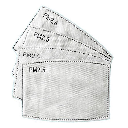 PM2.5 Filter set 4 stuks - mondkapje