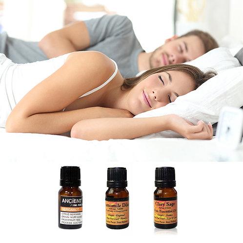 Sleep Easy pakket - 3 essential oils - bergamot - kamille - scharlei