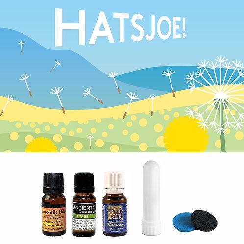 Hooikoorts pakket - 3 essential oils - neusinhaler - pads