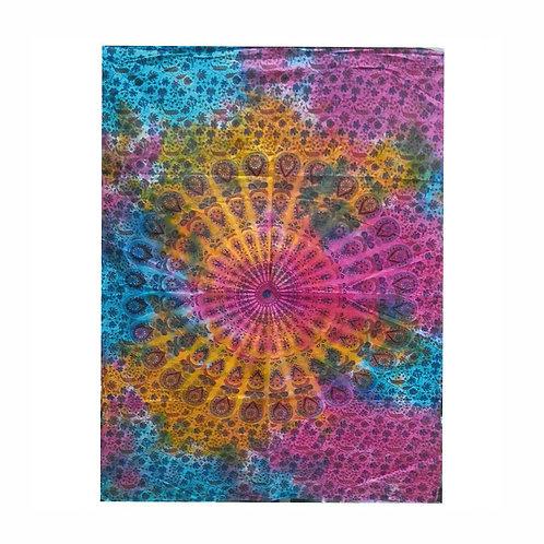 Mandala katoenen wandkleed - 112 x 78 cm