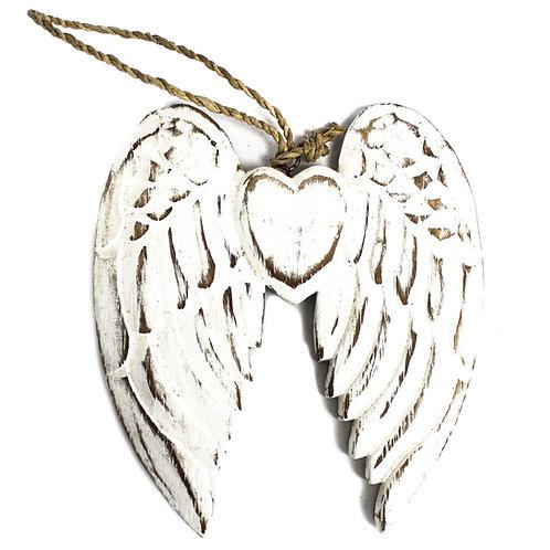 Engelen vleugels 15 cm hout – wit - krijtbord - muurdecoratie