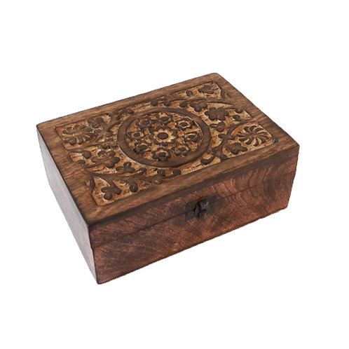 Box 24 vakken Essential Oils Wood