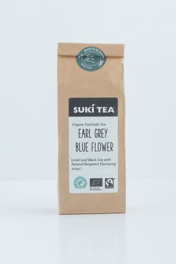 Suki Earl Grey Blue Flower