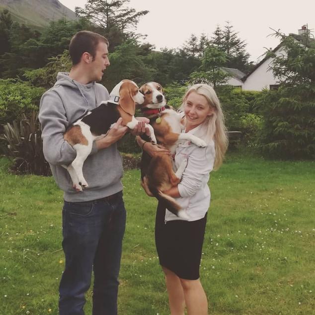 iona and gary, luib houuse self catering hosts, isle of skye accomodation dogs