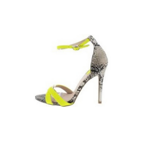 Frasier 67 Neon Yellow Strap Stiletto Heel
