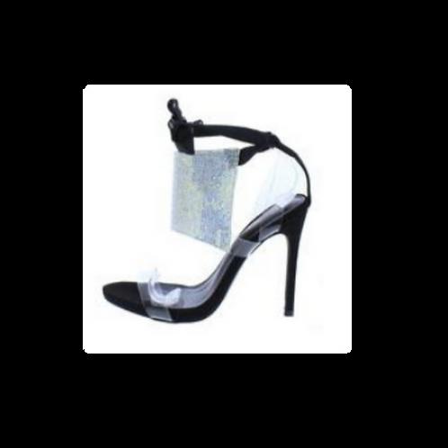 Lilian Black Strap Stiletto