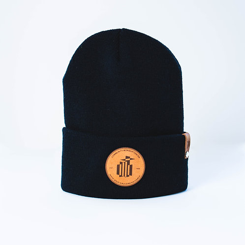 CWC Leather Patch Beanie