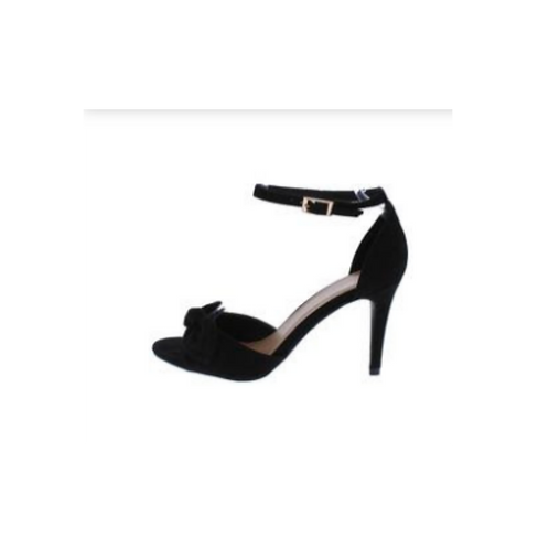 Manners 11 Black Knotted Bow Strappy Heel