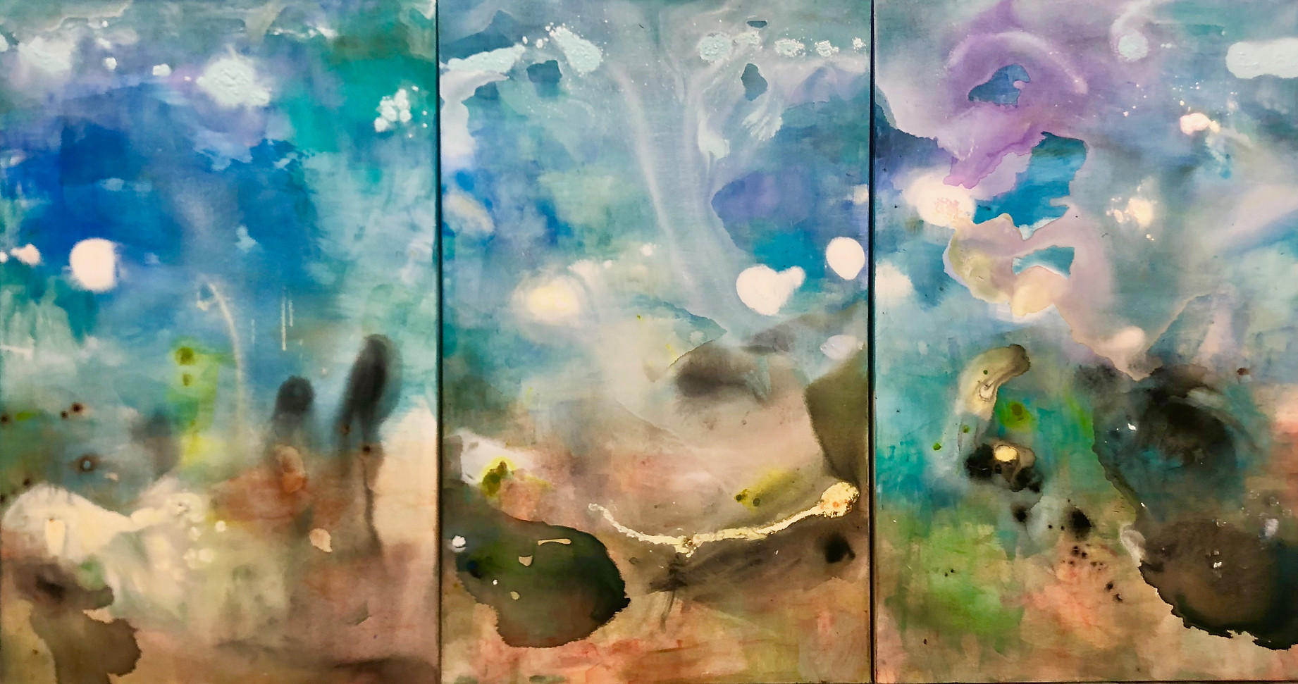 Dreamtime Tryptich 3 panels