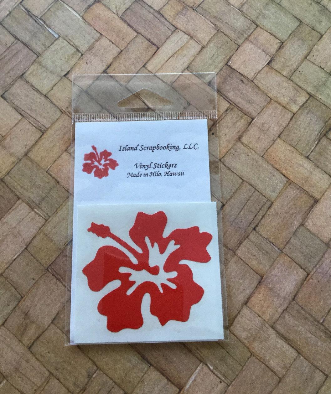 Vinyl Sticker Waterproof Decal Hibiscus