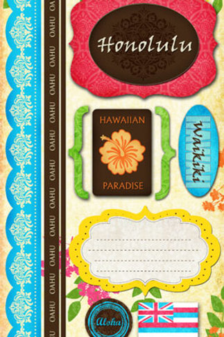Oahu Long Sticker Pack