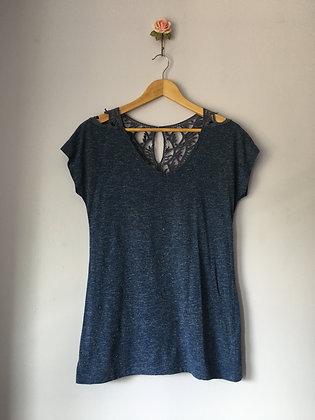 Crotchet Detailed T-Shirt