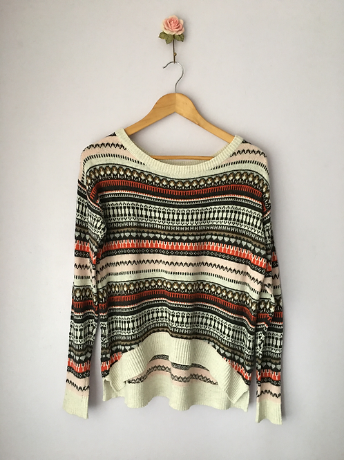 DECORATIVE KNITTED JUMPER