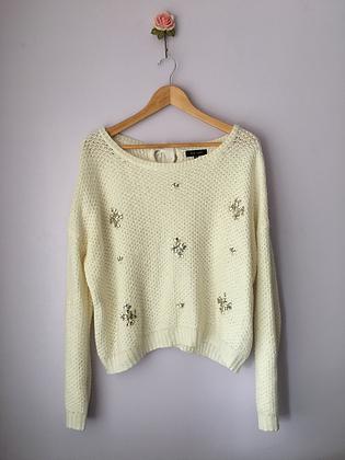 Knitted Jumper with Gem Details