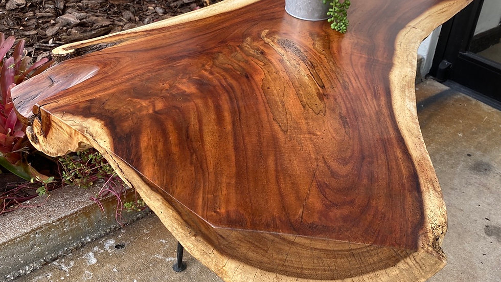 """Muir is the popular live edge style with hair pin legs  41""""w x 28""""d x 20""""h"""