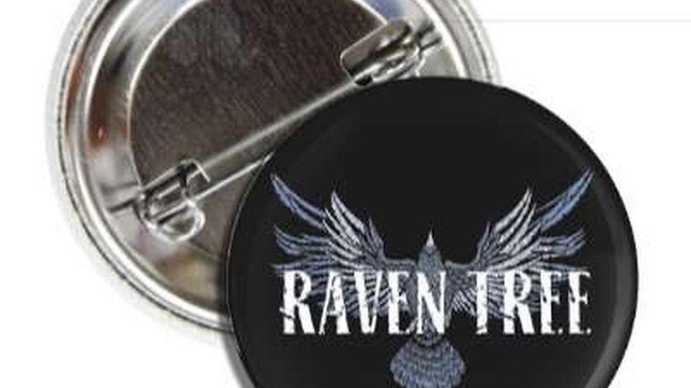 Raven Tree Vintage Rock Button