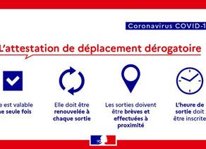 [COVID-19] nouvelle attestation de déplacement dérogatoire
