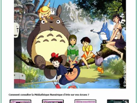 """""""RDV numérique"""" avec les films d'animation du studio Ghibli"""
