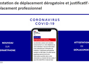[COVID-19] NOUVEAU Une attestation dérogatoire numérique