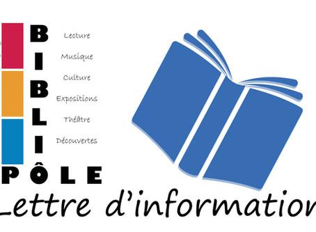 [Bibliopôle] Lettre d'information #3