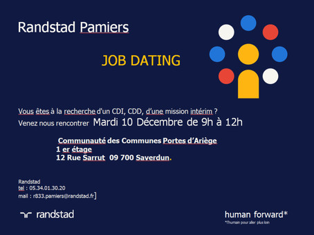 Job Dating : Save the date* !