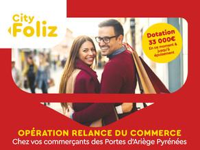 City Foliz : 20% remboursés chez vos commerçants de proximité !