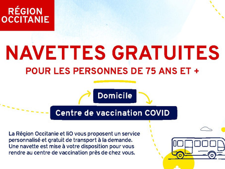 """Des navettes gratuites pour se faire vacciner """"anti COVID"""""""
