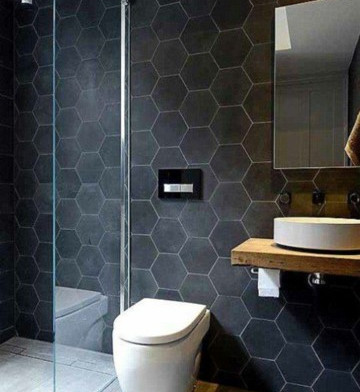 Black and Grey Bathroom Tile Edmonton.jp