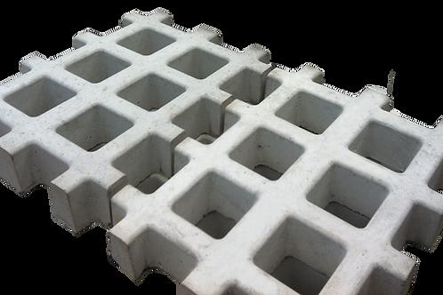Pisograma Grid Polido 33x43x7 cm - m²