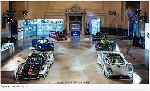 6 Pagani Hypercars shown in Robb Report Image by Dan Wagner