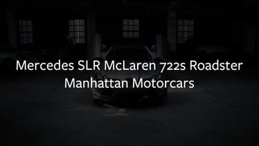 SLR Mclaren 722S Roadster