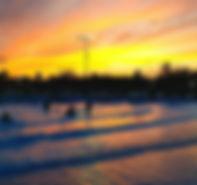 Sunset at Deep River Waterpark