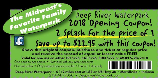 2-4-1 Opening weekend coupon