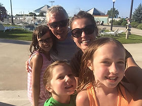 Family at the waterpark