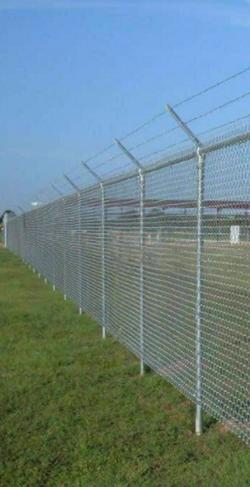 galvanized mesh fence