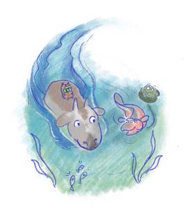 Digital sketch for children's book