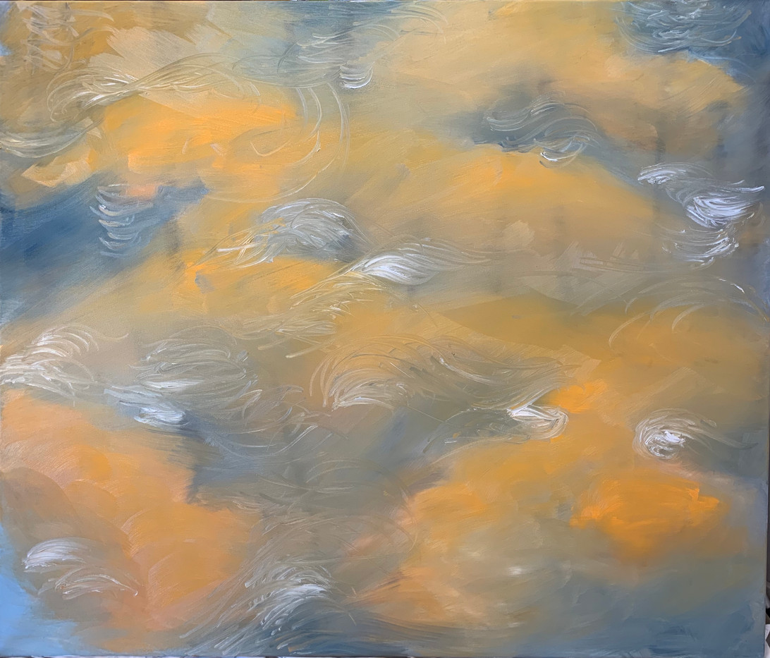 painting: Running Waters, oil on canvas 2019