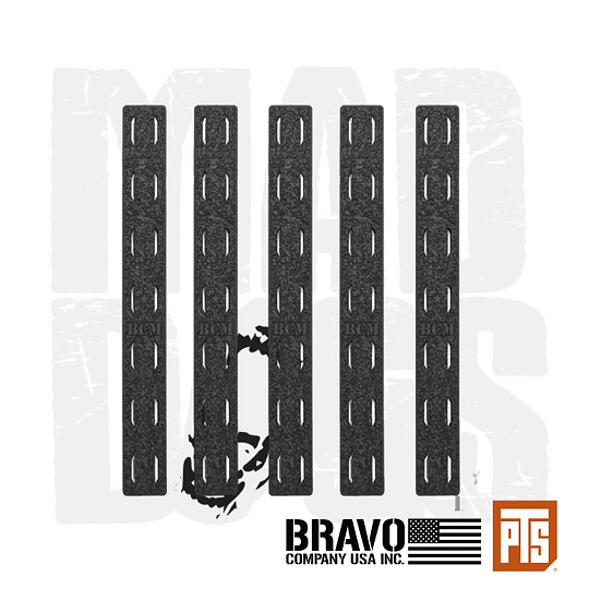BCM­® MCMR M-LOK Rail Panel Kit, 5.5-inch (FIVE Pack) BK